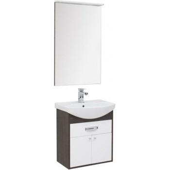 Комплект мебели для ванной Aquanet Грейс 60 дуб кантербери/белый (1 ящик, 2 дверцы)