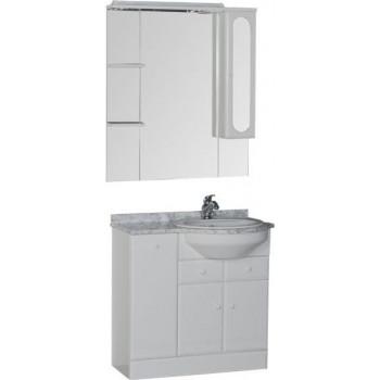 Комплект мебели для ванной Aquanet Марсель 90 R б/к белый