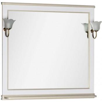 Зеркало Aquanet Валенса 100 белый краколет/золото