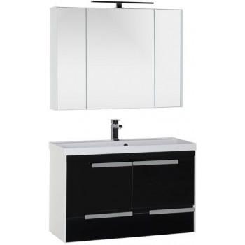 Комплект мебели для ванной Aquanet Тиволи 100 черный