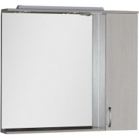 Зеркало-шкаф с подсветкой Aquanet Донна 100 белый дуб