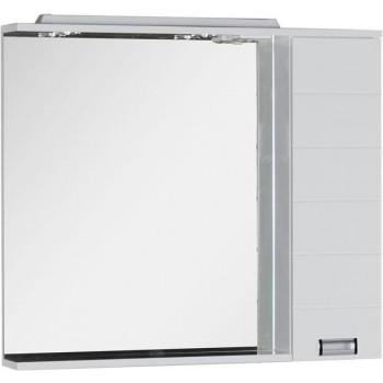 Зеркало-шкаф с подсветкой Aquanet Сити 100 белый