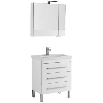 Комплект мебели для ванной Aquanet Сиена 70 белый (напольный 3 ящика)