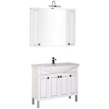 Комплект мебели для ванной Aquanet Честер 105 белый/серебро
