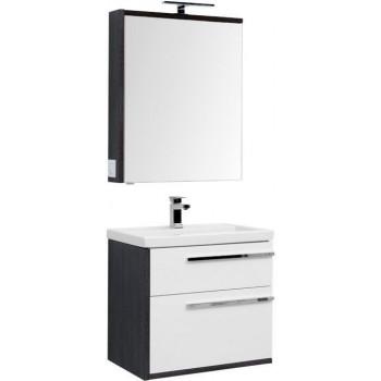 Комплект мебели для ванной Aquanet Фостер 70 эвкалипт мистери/белый