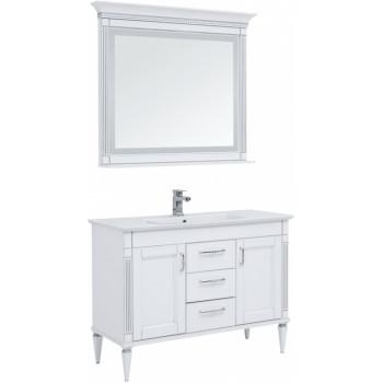 Комплект мебели для ванной Aquanet Селена 120 белый/серебро