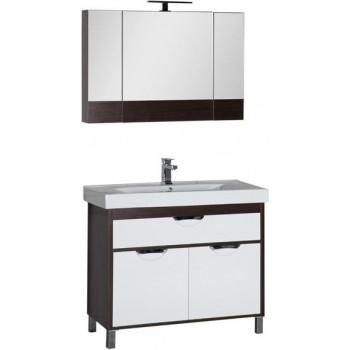 Комплект мебели для ванной Aquanet Гретта 100 венге (камерино)
