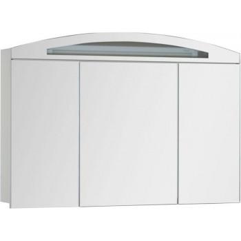 Зеркало-шкаф с подсветкой Aquanet Тренто 120 белый