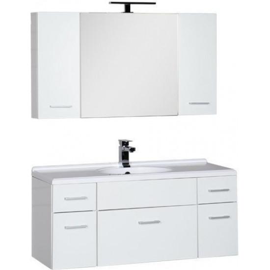 Комплект мебели для ванной Aquanet Данте 110 белый (камерино 2 навесных шкафчика) в интернет-магазине ROSESTAR фото