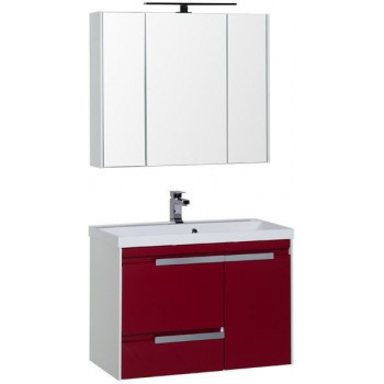 Комплект мебели для ванной Aquanet Тиволи 90 бордо