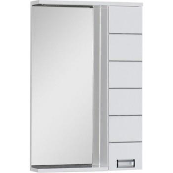 Зеркало-шкаф с подсветкой Aquanet Доминика 55 LED белый