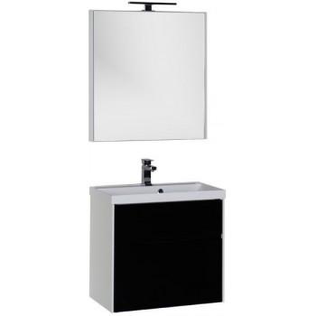 Комплект мебели для ванной Aquanet Латина 70 черный (2 ящика)