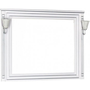 Зеркало Aquanet Паола 120 белый/серебро