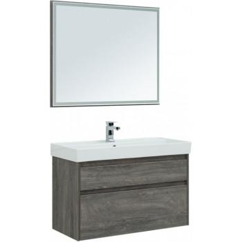 Комплект мебели для ванной Aquanet Nova Lite 100 дуб рошелье (2 ящика)
