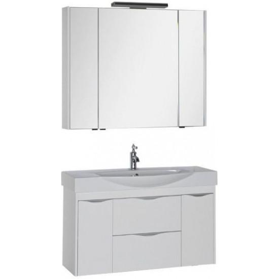 Комплект мебели для ванной Aquanet Франка 105 белый в интернет-магазине ROSESTAR фото