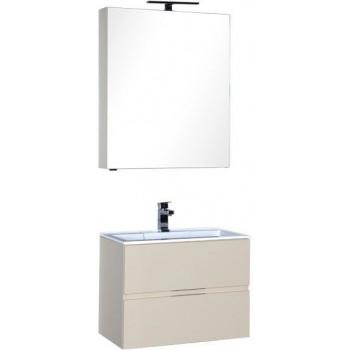 Комплект мебели для ванной Aquanet Алвита 70 бежевый