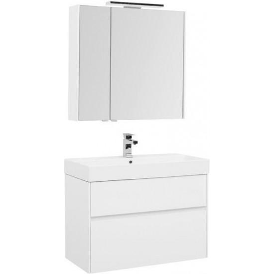 Комплект мебели для ванной Aquanet Бруклин 85 белый в интернет-магазине ROSESTAR фото
