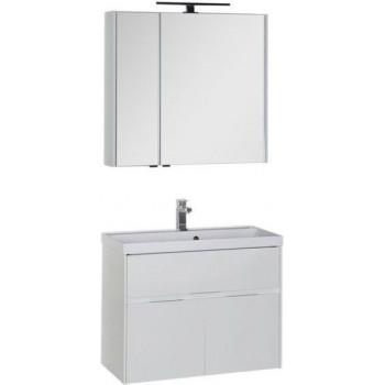 Комплект мебели для ванной Aquanet Латина 80 белый