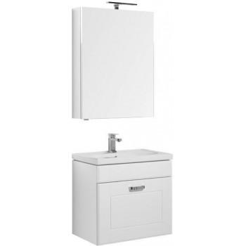 Комплект мебели для ванной Aquanet Рондо 70 белый (1 ящик, зеркало камерино)
