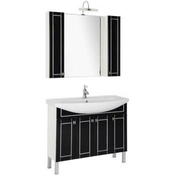 Комплект мебели для ванной Aquanet Честер 105 черный/серебро