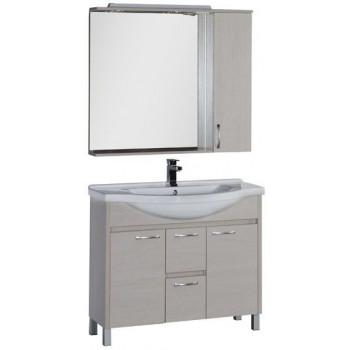 Комплект мебели для ванной Aquanet Донна 100 белый дуб