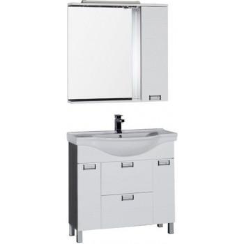 Комплект мебели для ванной Aquanet Сити 90 венге