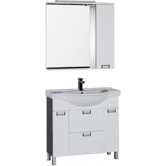 Комплект мебели для ванной Aquanet Сити 90 венге в интернет-магазине ROSESTAR фото
