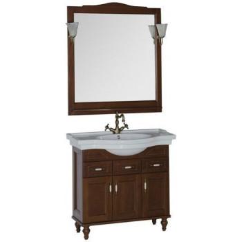 Комплект мебели для ванной Aquanet Амелия 90 орех