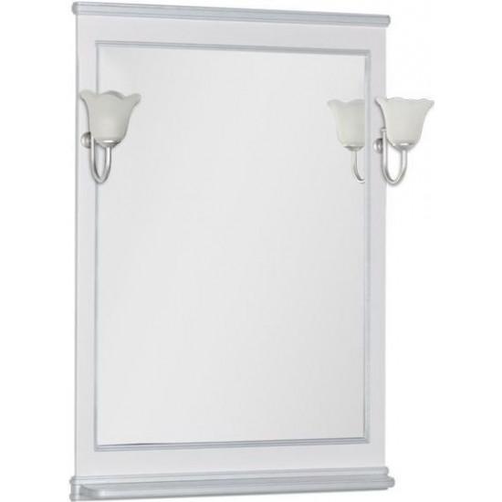Зеркало Aquanet Валенса 70 белый краколет/серебро в интернет-магазине ROSESTAR фото
