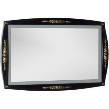 Зеркало Aquanet Виктория 120 черный/золото
