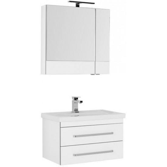 Комплект мебели для ванной Aquanet Сиена 70 белый (подвесной 2 ящика) в интернет-магазине ROSESTAR фото