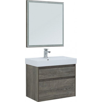 Комплект мебели для ванной Aquanet Nova Lite 75 дуб рошелье (2 ящика)