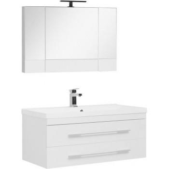 Комплект мебели для ванной Aquanet Нота NEW 100 белый (камерино)