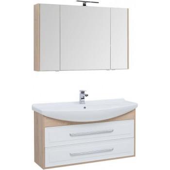 Комплект мебели для ванной Aquanet Остин 120 дуб сонома/белый