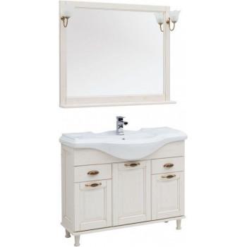 Комплект мебели для ванной Aquanet Тесса Декапе 105 жасмин/золото