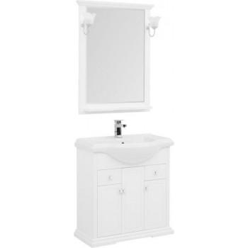 Комплект мебели для ванной Aquanet Лагуна Классик 80 белый