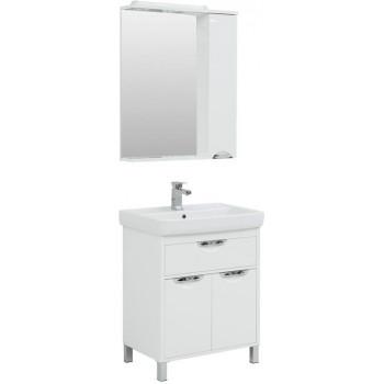Комплект мебели для ванной Aquanet Гретта 70 New белый (1 ящик, 2 дверцы)