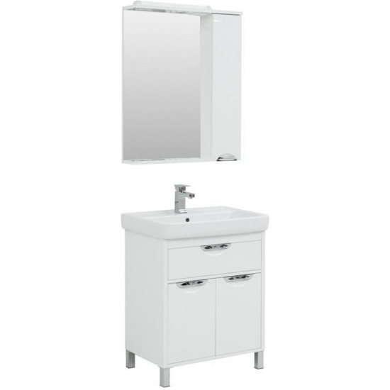 Комплект мебели для ванной Aquanet Гретта 70 New белый (1 ящик, 2 дверцы) в интернет-магазине ROSESTAR фото
