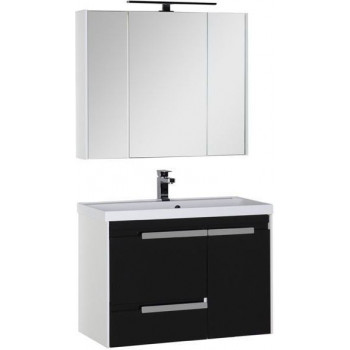 Комплект мебели для ванной Aquanet Тиволи 90 черный