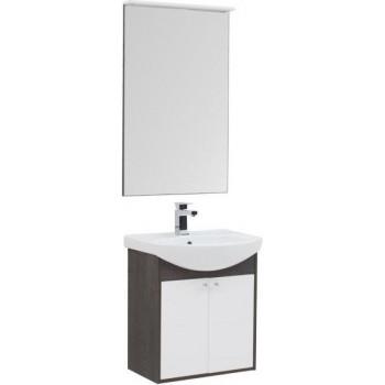 Комплект мебели для ванной Aquanet Грейс 60 дуб кантербери/белый (2 дверцы)