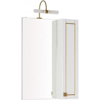 Зеркало-шкаф Aquanet Честер 60 белый/золото