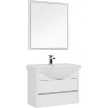 Комплект мебели для ванной Aquanet Сидней 80 белый
