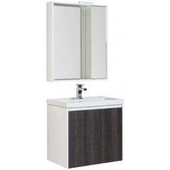 Комплект мебели для ванной Aquanet Клио 70 эвкалипт мистери/белый