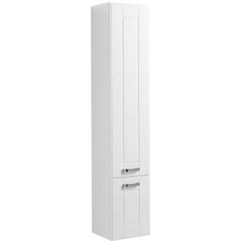 Шкаф-пенал для ванной Aquanet Рондо 35 белый (2 дверцы)