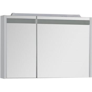 Зеркало-шкаф с подсветкой Aquanet Лайн 90 R белый