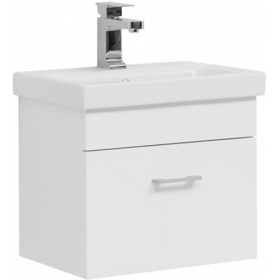 Тумба с раковиной Aquanet Нота 50 (Moduo Slim) белый в интернет-магазине ROSESTAR фото