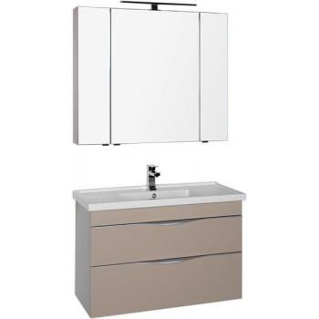 Комплект мебели для ванной Aquanet Эвора 100 капучино