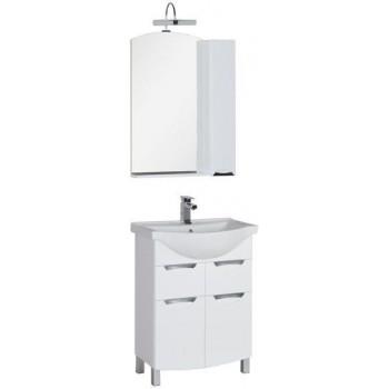 Комплект мебели для ванной Aquanet Асти 65 белый (зеркало шкаф/полка)