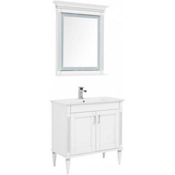 Комплект мебели для ванной Aquanet Селена 90 белый/серебро