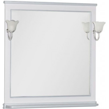 Зеркало Aquanet Валенса 90 белый краколет/серебро